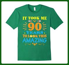 Mens It Took Me 90 Years To Look This Amazing Shirt For Birthday 3XL Kelly Green - Birthday shirts (*Amazon Partner-Link)
