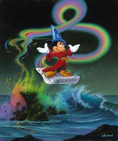 Disney Fine Art Mickey Making Magic by Jim Warren