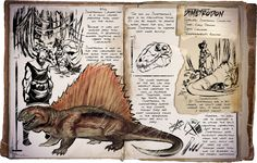 Ark: Survival Evolved Dossiers: Dimetrodon by Dinosuarjosh.deviantart.com on @DeviantArt