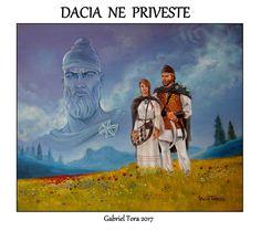 Dacia ne priveste- Decebal- 2017- falx- desaga- floarea vietii Iron Age, Romanian Flag, Romanian People, Knife Art, Equine Art, Fun Facts, Culture, Fantasy, Painting