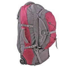 Womens Travel Backpack with Wheels Female Rucksack