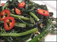 Sauteed Greens with Chile and Garlic