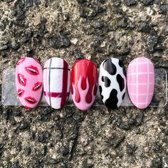 This set of nail art designs were created using Missu Hollywood Dream gel polish collection. I also used Missu Extra Fine Detail Brush to create this set. Best Acrylic Nails, Gel Nail Art, Gel Nails, Simple Acrylic Nails, Nail Polish Art, Stylish Nails, Trendy Nails, Punk Nails, Gel Polish Designs