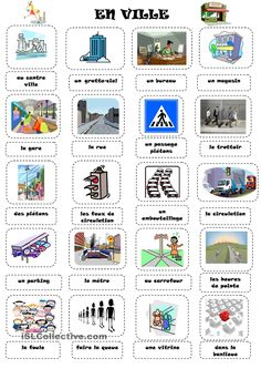 EN VILLE French Teaching Resources, Teaching French, Spanish Activities, Learning Resources, Learning Spanish, French Language Lessons, French Lessons, Spanish Lessons, How To Speak French