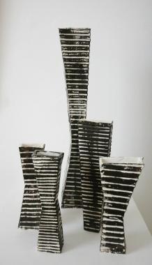 Sculptures of Vases Set by Bruce McLean