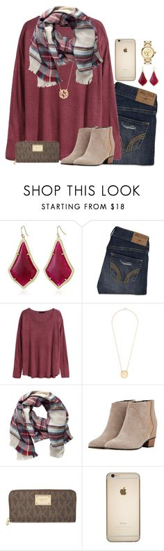 """sooooo ready for Christmas!"" by julesnewkirk ❤ liked on Polyvore featuring Kendra Scott, Hollister Co., H&M, Pieces, Golden Goose, MICHAEL Michael Kors, Tory Burch, women's clothing, women's fashion and women"