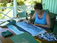 How To Create A Landscape Quilts | Quilting at Daku Resort - Cazs Quilt