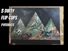 """Time Lapse of """"Giza""""   3 cup acrylic dirty pour   Triangles   Pyramids - YouTube"""