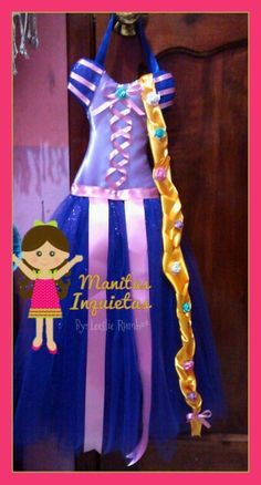 Porta moños Rapunzel Manitas Inquietas https://m.facebook.com/MisManitasInquietas