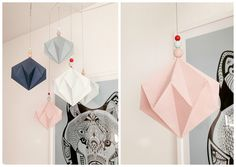 DIY origami mobile by blogliebling.dk
