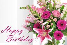 Bilderesultat for happy birthday flowers Happy Birthday Flowers Images, Birthday Wishes Flowers, Birthday Roses, Birthday Bouquet, Birthday Blessings, Birthday Wishes Cards, Birthday Pictures, Congrats Wishes, Bday Flowers