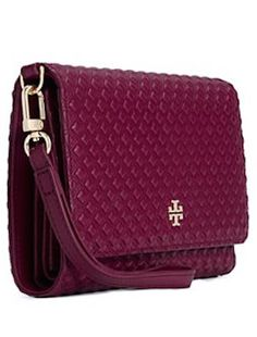Tory Burch marsala clutch