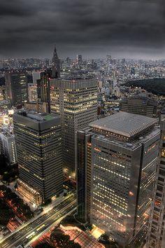 NS bldg. (at right front), Shinjuku, Tokyo, Japan