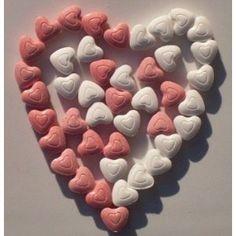 Heart mints.
