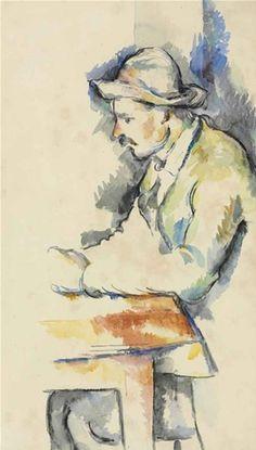 Paul Cezanne / Joueur de cartes / watercolor on laid paper / Painted in / via Christie's Cezanne Art, Paul Cezanne Paintings, Painting & Drawing, Watercolor Paintings, Watercolors, Arte Van Gogh, Pierre Auguste Renoir, Edouard Manet, Paul Gauguin