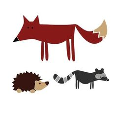 @Kaleena Harrington Just came across these on Etsy, not sure if they'd work in Finn's space. Woodland creatures vinyl decal by Elephannie on Etsy, $17.00