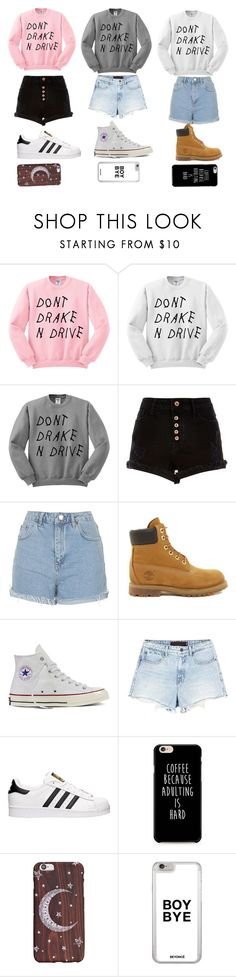 """Outfit #11, #12, and #13"" by liyah-x ❤ liked on Polyvore featuring River Island, Topshop, Timberland, Converse, Alexander Wang and adidas"