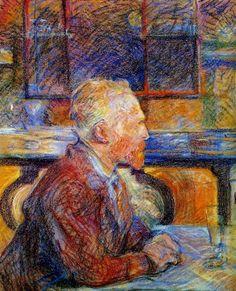 Portrait of Vincent van Gogh, Henri Toulouse-Lautrec, 1887.