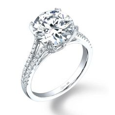 Sylvie Collection SY098 Engagement Ring