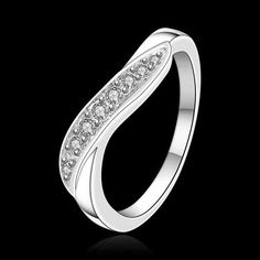Unisex Silver Plated Jewelry Ring