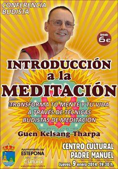 """Conferencia Budista: """"INTRODUCCIÓN A LA MEDITACIÓN"""""""