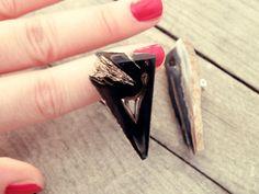 Clip on earrings Geode earrings stone earrings raw by CarmelaRosa