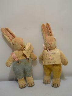 1937 Pair of Velveteen Rabbits, Made in Japan