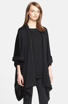 St. John Collection Welt Trim Wool Sweater available at #Nordstrom