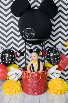 60 Ideas Baby First Birthday Cake Ideas Mickey Mouse Mickey 1st Birthdays, Fiesta Mickey Mouse, Mickey Mouse First Birthday, Mickey Mouse Clubhouse Birthday Party, Baby First Birthday, Cake Birthday, Mickey Mouse Pinata, Mickey Mouse Smash Cakes, Mickey Mouse Birthday Decorations