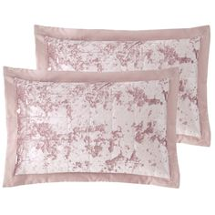 Catherine Lansfield Lend your sleep space a luxurious look with these shams. The soft texture and tones are sure to make a statement. Add the matching duvet set and accessories for a wonderfully indulgent update to the home. Velvet Duvet, Velvet Cushions, Duvet Sets, Duvet Cover Sets, Textures And Tones, Pink Tone, Crushed Velvet, Bed Covers, Bed Spreads
