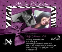 "Photo 1 of 9: Zebra & Purple / Quinceañera ""Nicole's Sweet 15""   Catch My Party"