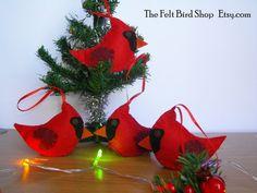 Handmade Christmas Cardinals, for your Christmas Tree!