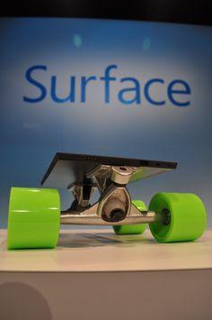 Surface on skateboard wheels!  http://www.microsoft.com/Surface  http://www.facebook.com/Surface  http://twitter.com/surface/
