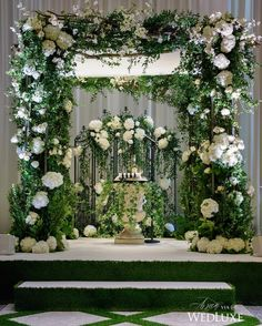 Isn't this chuppah pure #wedding magic? See more on WedLuxe.com (: @storeywilkins, planner: Heidi Gruenspan Party Planning, pergola and truss: @firedogcreative, floral & decor design: @frankreaeventdesigns)