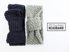 Newbie Knitted Headband #knitting #DIY Just knit in garter stitch and seam together, perfect for beginners!