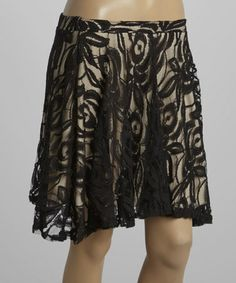 Look what I found on #zulily! Black Lace Skirt by Hug #zulilyfinds