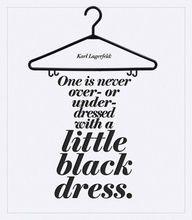 In einem Little Black Dress ist man immer gut gekleidet.