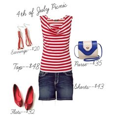 """""""4th of July Picnic"""" by txdaydreamer on Polyvore"""