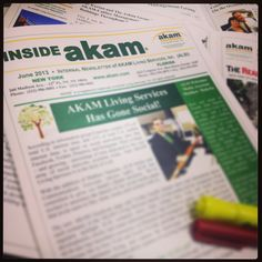 The AKAM Communication team is working hard to put the finishing touches on our latest issue of the 'Inside AKAM' June newsletter.