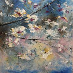"Saatchi Art Artist Natalia Esanu; Painting, ""CHERRY BLOSSOMS"" #art"