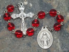 Ten Virtues of Mary Chaplet of Czech Glass in Your Choice of Color; Catholic Chaplet; Ten Virtues Chaplet; Mary Chaplet; Tenner Chaplet by MarysGardenRosaries on Etsy https://www.etsy.com/listing/269497557/ten-virtues-of-mary-chaplet-of-czech