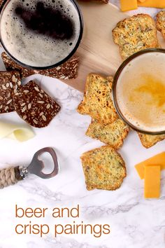 Pairing | raincoast crisps® with your favourite beer Crisp, Toast, Beer, Pairs, Breakfast, Ethnic Recipes, Food, Side Dishes, Root Beer