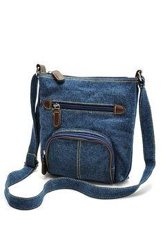 Blue Denim Cross-Body Bag Női Kézitáskák 99183aee7a