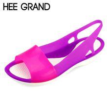2016 playa sandalias de gladiador plataforma mujer zapatos de la jalea del…