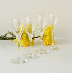 Baccarat St. Remy Cordial Glasses Set Of Four Signed #Baccarat #ArtsCraftsMissionStyle Corner Bar, Cordial, Arts And Crafts, Signs, Glasses, Ebay, Eyewear, Eyeglasses, Shop Signs