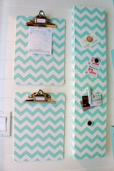 DIY Decorative Clipboards using Wrapping Paper {& Season in a Trunk Giveaway!} - The Happy Housie