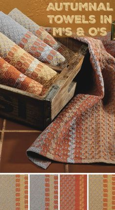 4-shaft or 6-shaft weaving project! Weave up these cute autumnal towels in M's and O's. Pattern here!