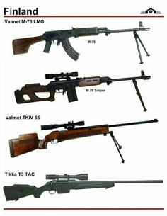 Firearms from Finland Anti Tank Rifle, Special Forces Gear, Lethal Weapon, Shooting Guns, Concept Weapons, Cool Guns, Assault Rifle, Military Weapons, Guns And Ammo