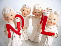 Noel vintage Christmas angel ornaments, I've had a set like this for over 50 Years..