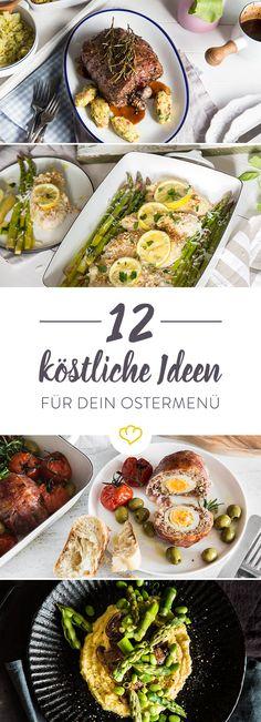 Ja ist denn schon wieder Ostern? Egal ob traditionelles oder vegetarisches Ostermenü, frische Inspiration für Vor-, Haupt- und Nachspeise findest du hier.